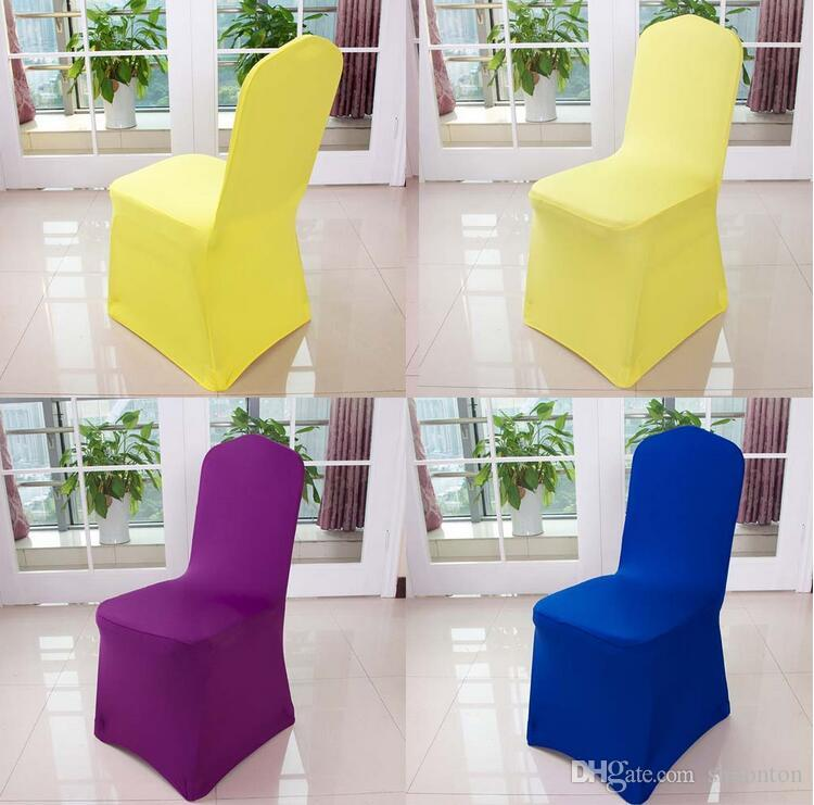 Wolesale chair cover wedding wedding pure color with thick white elastic high-end banquet chair cover free shipping WA0101