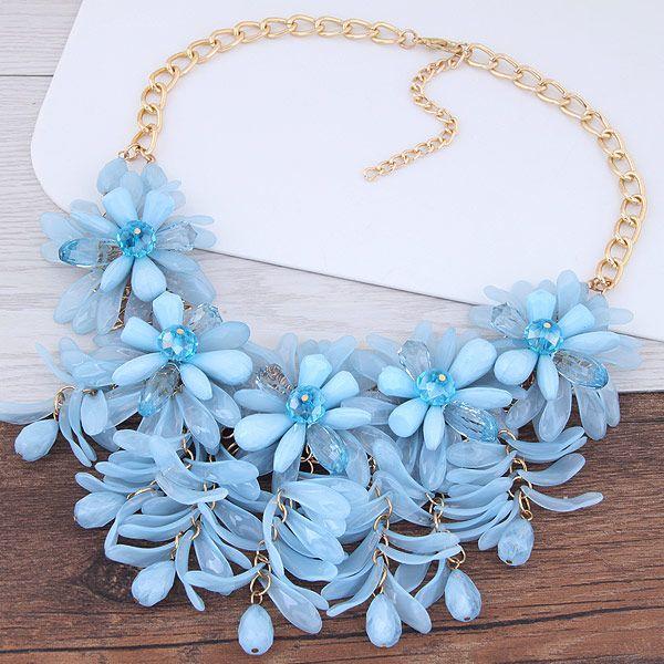 2017 Choker Halskette Harz Blume Schmuck Halsketten Anhänger Candy Farbe Bijoux Femme Erklärung Halsketten Frauen Zubehör
