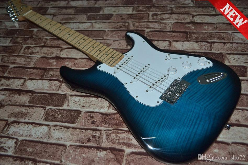 Venda por atacado - alta qualidade mais novo bule cor top de bordo ST guitarra elétrica Top instrumentos musicais frete grátis