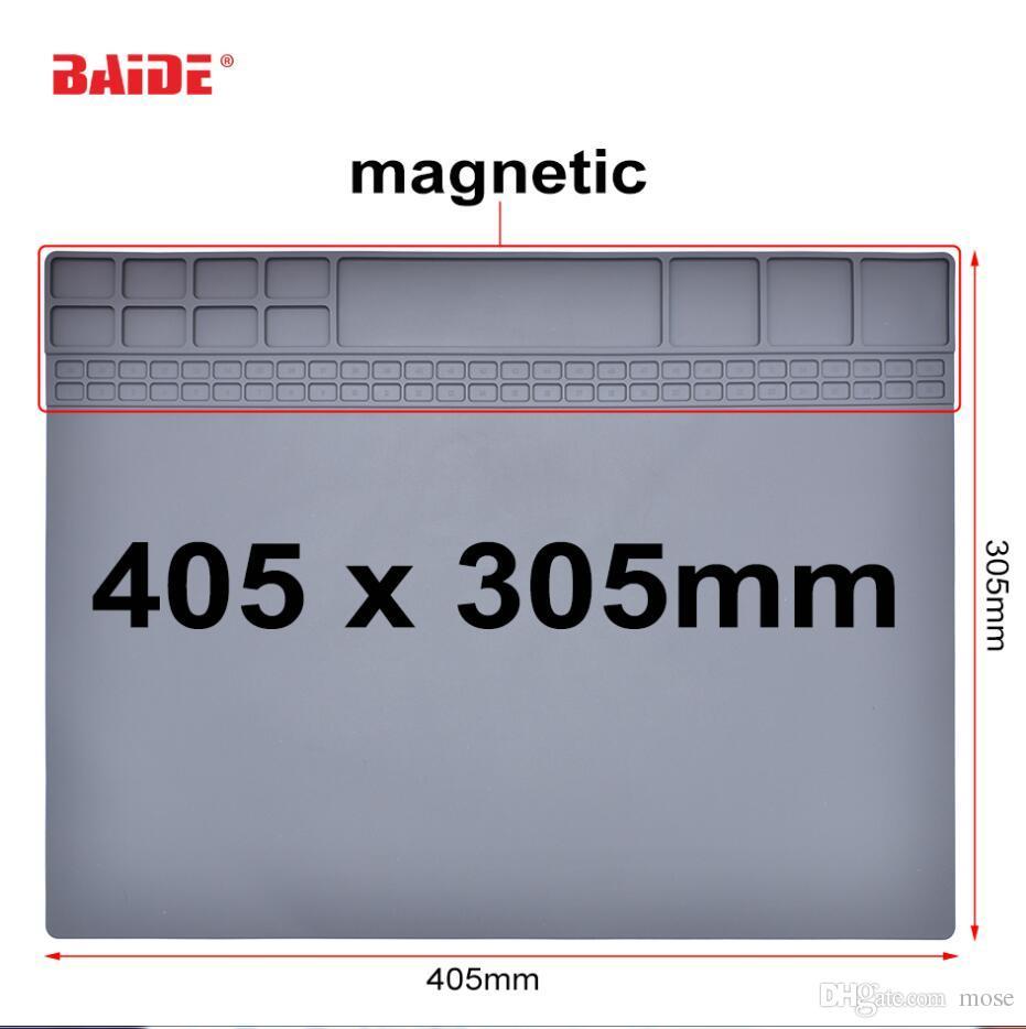 Новое поступление серый 305 мм x 405 мм ремонт антистатический коврик расширенный DIY инструмент ESD мат сварки скамейке Лента силиконовые паяльник 10 шт./лот