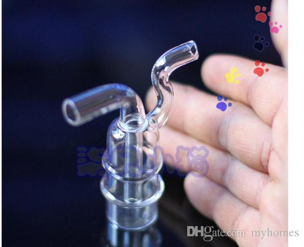 Clear Glass Smoking Pipes Mini Double Type Glass Pipe Special Cigarette Water Filter Health Smoking Pipes Smoking Accessories