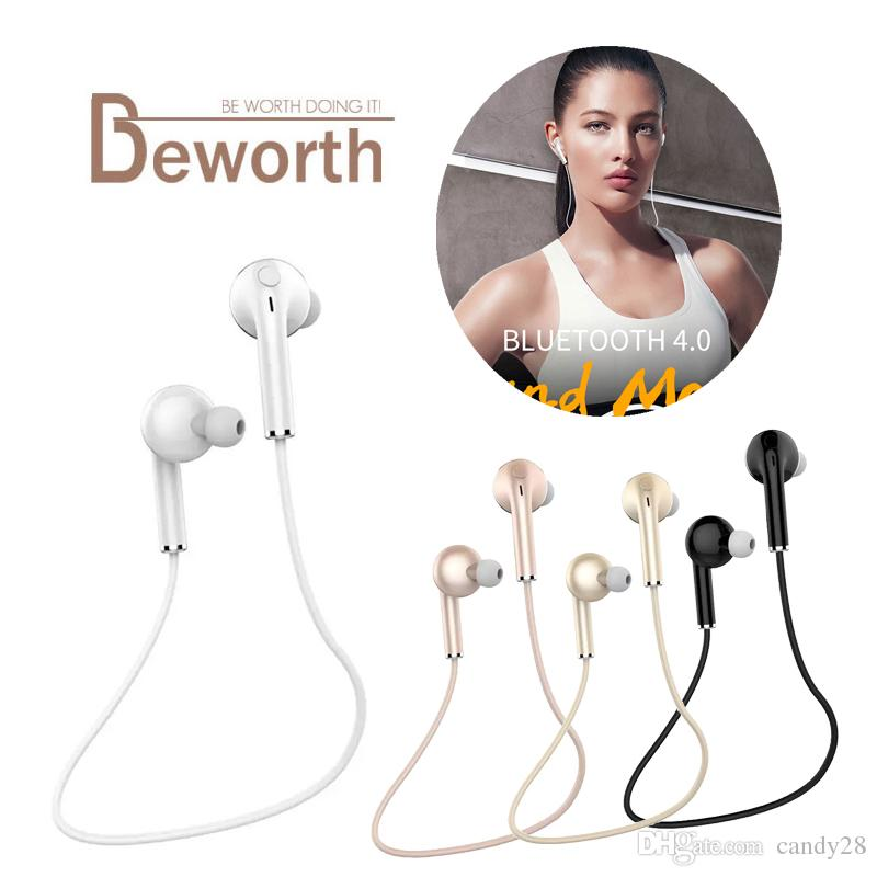 for iphone 7 Neckband Sport Bluetooth Earphone Stereo In-Ear Headphone HiFi Music Headset with Mic for IPhone Samsung Phone Free Shipping