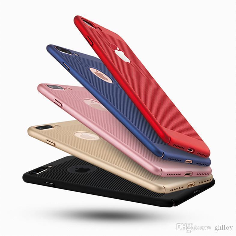 De luxe Scrub Respirant Coque PC Dur Couverture De Protection Complète Pour iPhone X 8 plus 8 iphone 7 plus Avec 5 Couleur 50pcs UP
