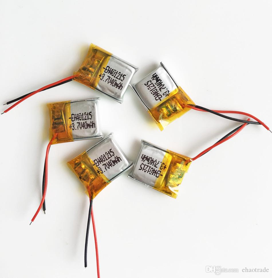 Оптовая 3.7 В 40 мАч 401215 Литий-Полимерный LiPo Аккумуляторы для Power Mp3 Mp4 PAD DVD DIY Электронные книги Bluetooth наушники
