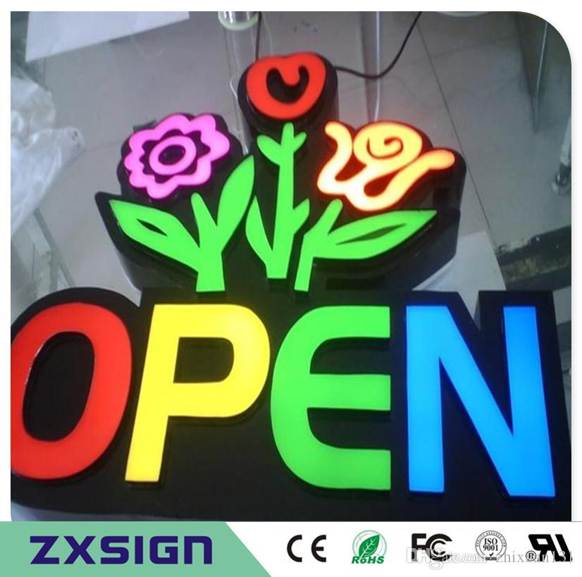 Außenwerbung des Factory Outlets beleuchtete Acryl-LED-Werbeschilder, Geschäft führte Beleuchtungsgeschäft-Zeichenbuchstaben