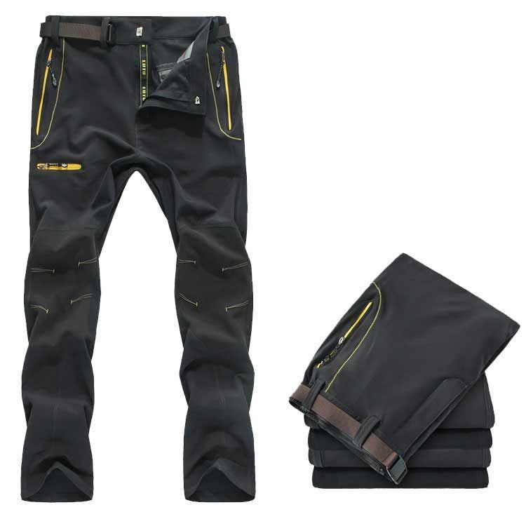 Pantalones de senderismo de deporte al aire libre de los hombres de verano, pantalones de escalada a prueba de agua, pantalones de secado rápido de trekking al aire libre, pantalones de pesca transpirables