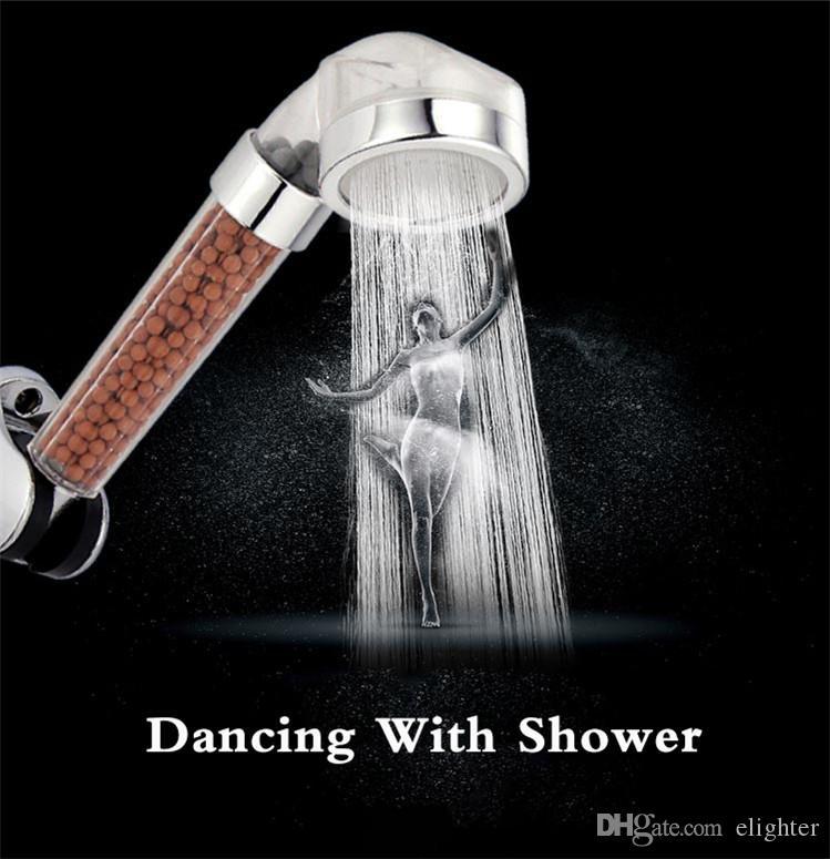 Duş Başlığı Banyo Su Terapisi Duş Başlığı Şeffaf Filtre Su Tasarrufu Yağmur Duş Filtre Başkanı Yüksek Basınçlı ABS Sprey