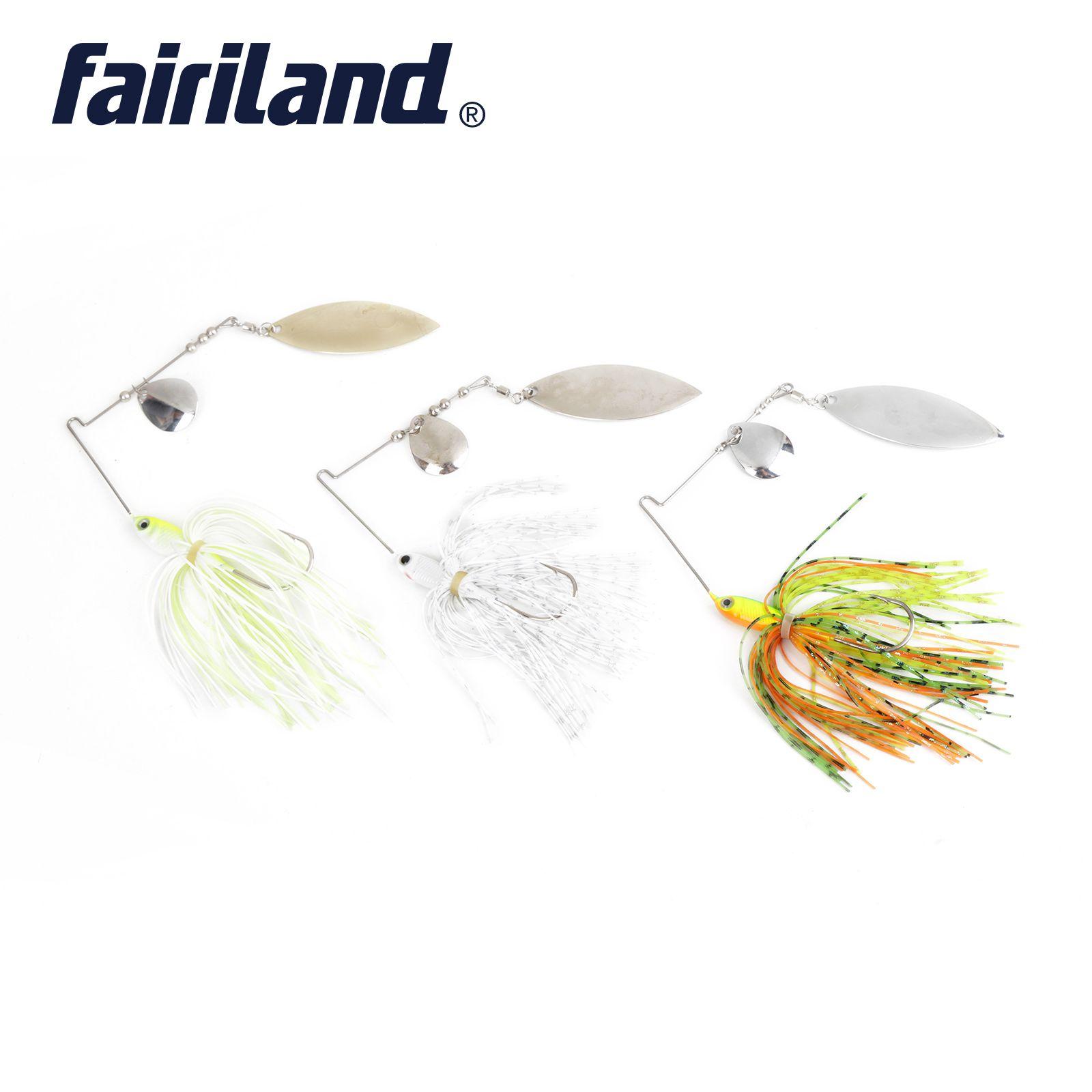 6 unids Spinnerbait Bass Fishing Lure Cabeza de ojo de plomo 3D Buzzbait Blade falda Cuchara de metal Spinner cebos 18 g samlon Carp ganchos de pesca