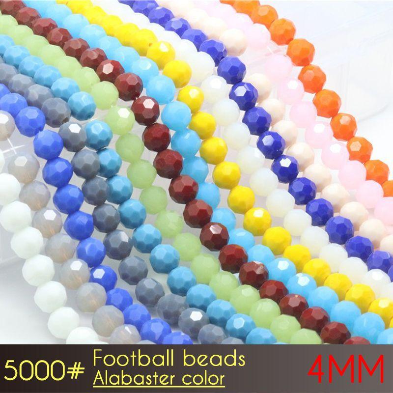 フットボールの反射ビーズ4mmアラバスターの色A5000 100ピース/セットチェコクリスタルビーズ卸売価格で卸売料金が付いています