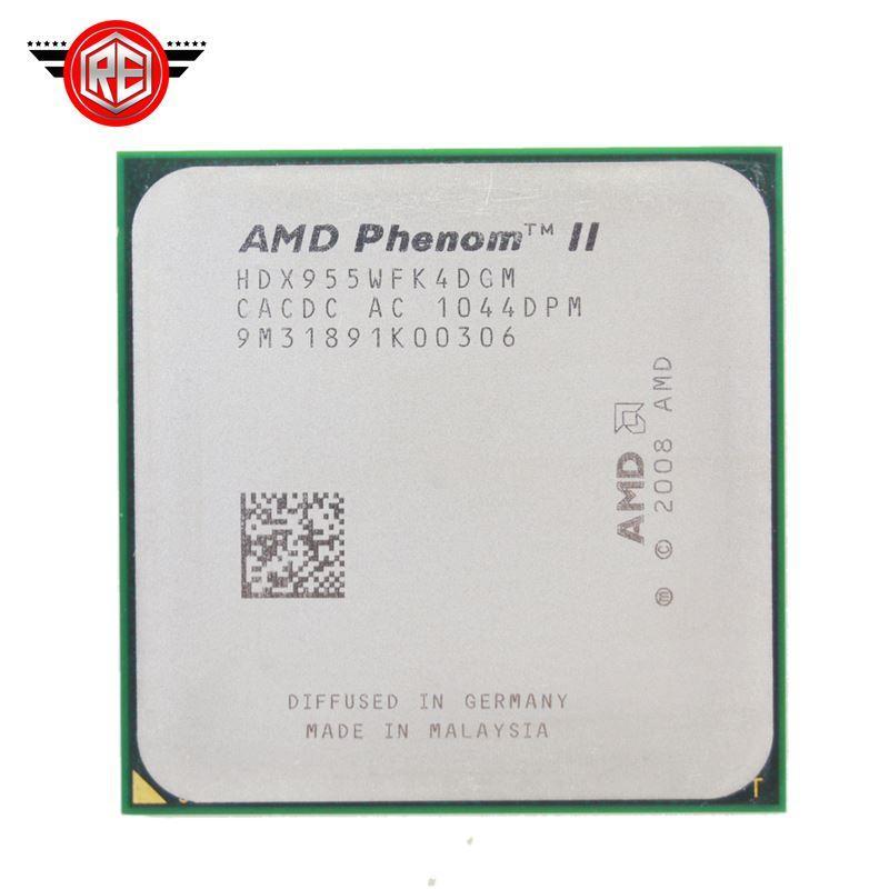 Processeur AMD 95W Phenom II X4 955 Quad-CORE 3.2Ghz 6M Socket am3 CPU 938 broches