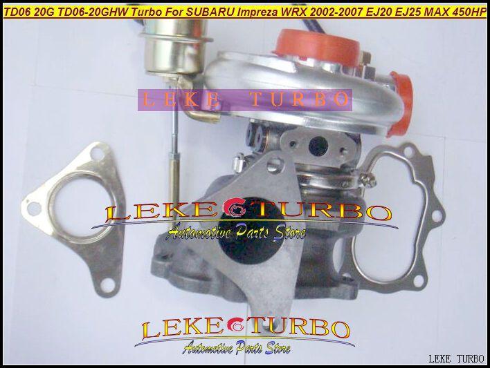 TD06 20G TD06-20GHW Turbo Turbocharger for SUBARU Impreza WRX 2002-2007 MAX HP 450HP Engine EJ20 EJ25 (4)