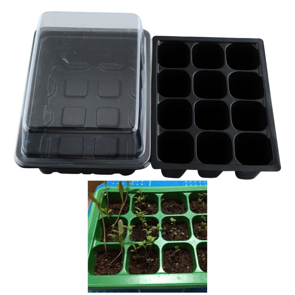 New-Useful-Durable-12-Cells-Hole-Plant-Seeds-Grow-Box-Tray-Insert-Case-quality-plastic-Plant