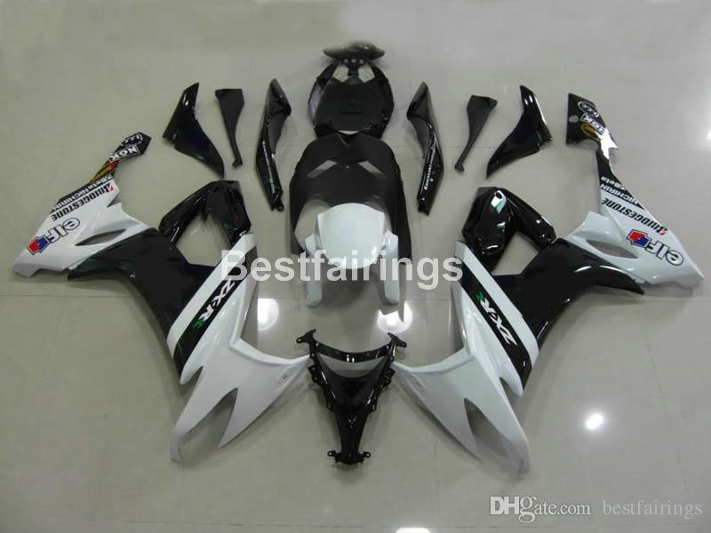Kit carena in plastica di alta qualità per Kawasaki Ninja ZX10R 08 09 carenatura nera bianca ZX10R 2008 2009 TU14