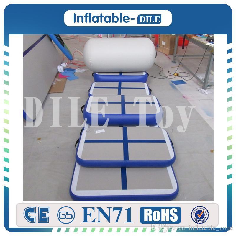 الشحن مجانا جودة عالية 2 * 1 * 0.2M نفخ السقطة المسار المسار الترامبولين الهواء الجمباز نفخ الهواء حصير للبيع
