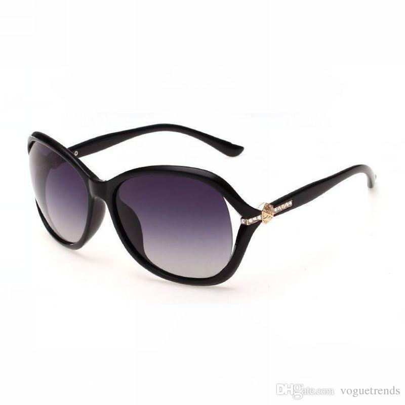 Strass impreziosito Accent Oversized Occhiali da sole Premium Fashion Womens Polarized 61mm Lenti sfilate Acetato Occhiali Frame Eyewear
