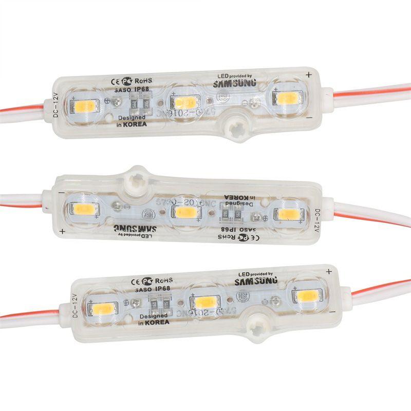 حقن IP68 LED وحدة 5630 1.5W 3LEDS تسجيل الإضاءة الخلفية للماء أحمر أبيض أزرق 12V 60LM كل الإعلانات 600PCS الخفيفة الكثير