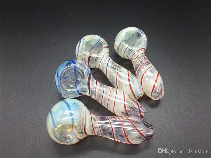 10 adet / grup 2.75 inç Uzunluk ucuz Renkli Cam kaşık Borular Sigara El ot Boru Üst tütün kaşık boru ücretsiz kargo