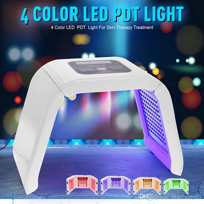 4 Color LED PDT Light Skin Care Beauty Machine LED Facial SPA PDT Therapy For Skin Rejuvenation Acne Remover DHL fast shipping