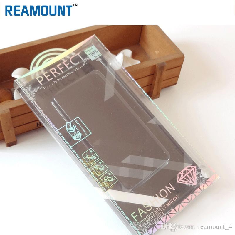 Großhandelspaket PVC-Plastikkleinverpackungskasten mit innerem Einsatz für iPhone 7 6 schützender Handy-lederner Fall