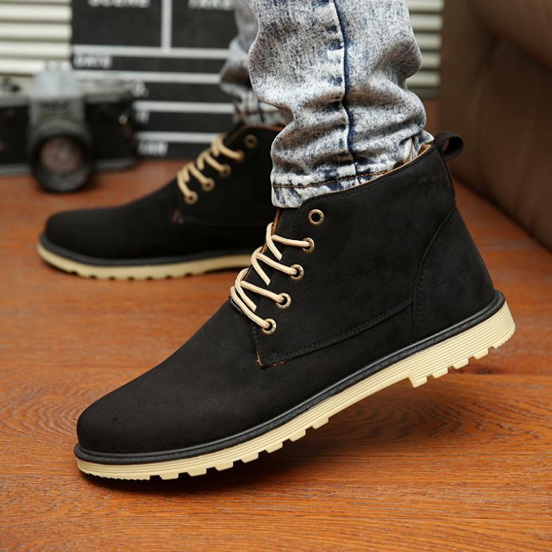 Cheap New 2016 Pu Leather Men Boots Fashion Warm Cotton Brand ...
