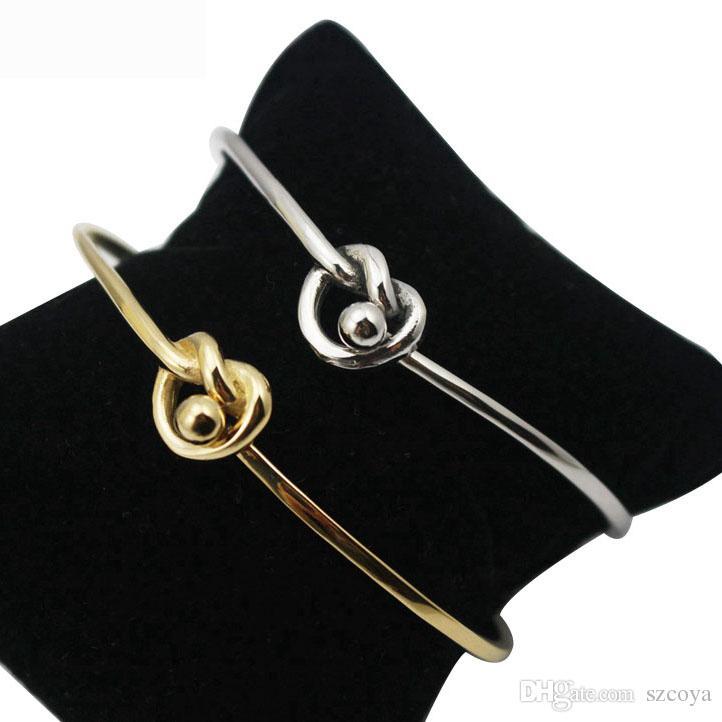 Design de moda jóias mulheres coreia do aço inoxidável elegante bonito fino pequeno torcido prata ou ouro magro Bangles Pulseira de 2,5 polegadas