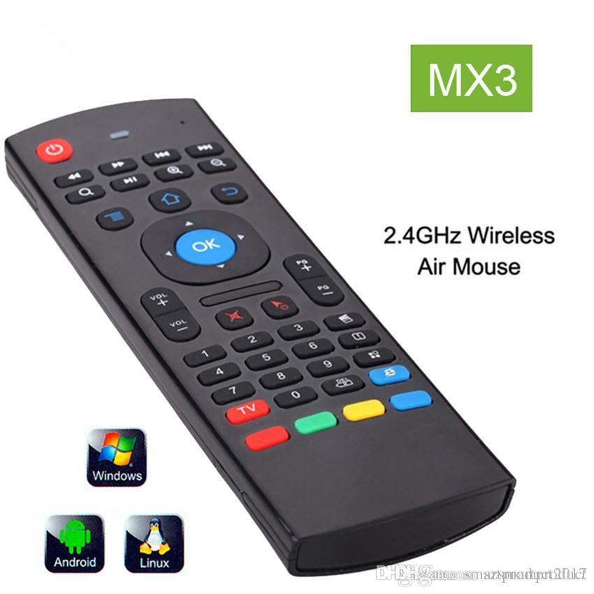 X8 2.4Ghz Wireless Keyboard MX3 3D IR Learning Mode Fly Air Mouse Remote Control for Mini PC Android Smart TV Box