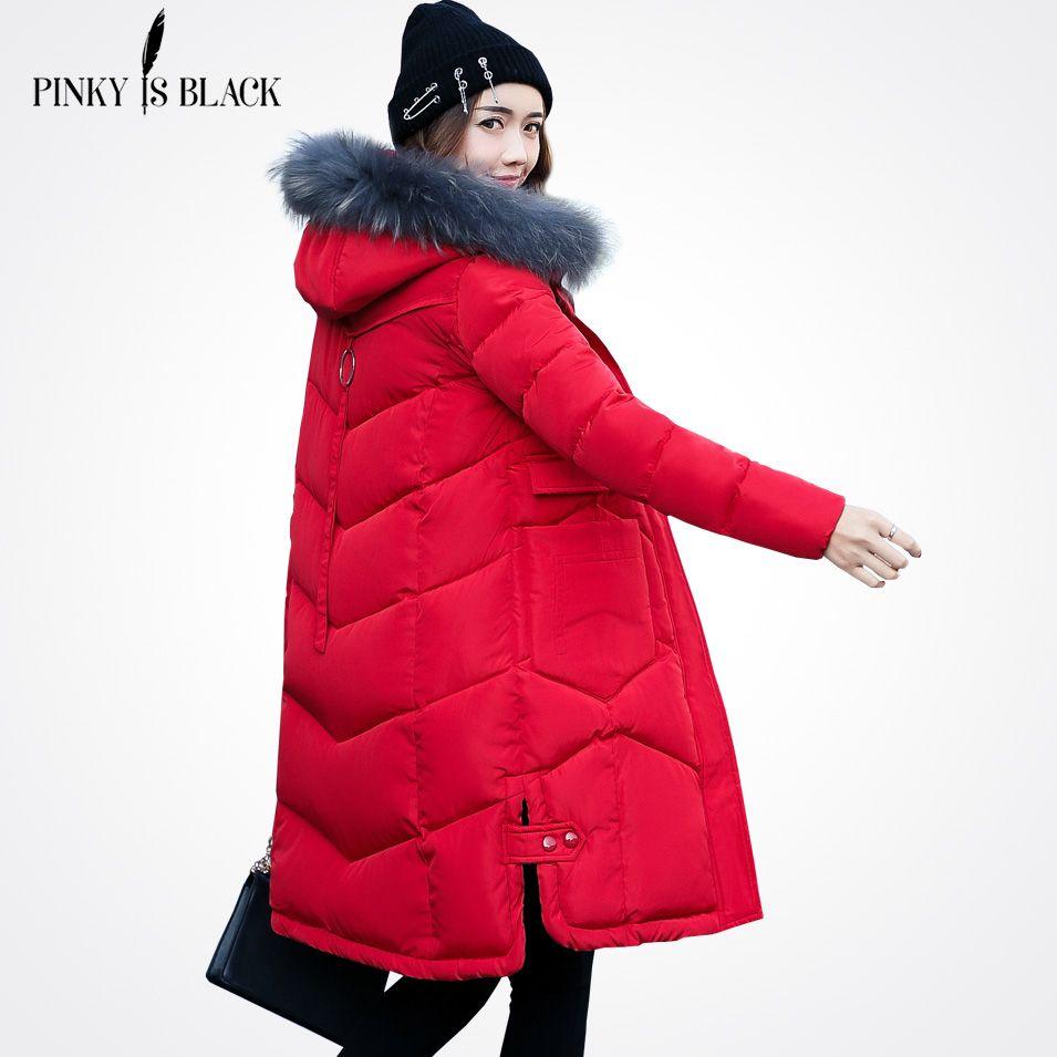 2017 New Winter Jacket Women Large Fur Collar Hooded Woman Parkas Plus Size 3XL Women Coat Thicken Jacket Outwear