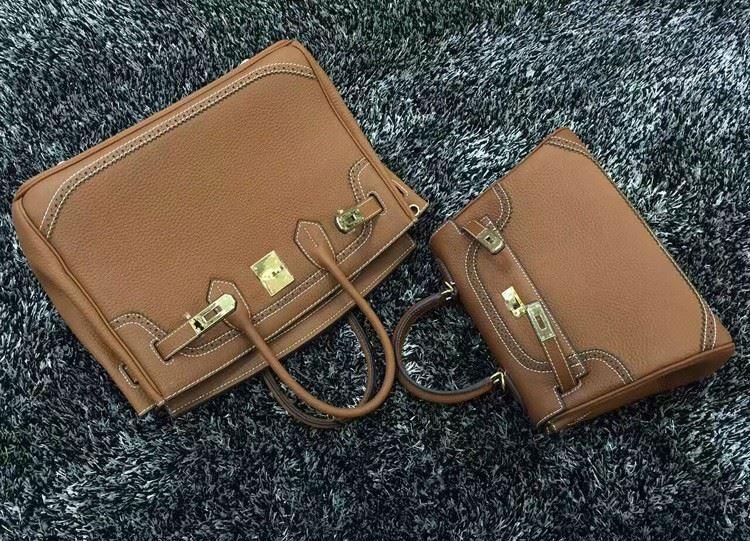 2016 Luxury H Handbag Women\`s Litchi Cowhide Messenger Bag Genuine Leather Famous Designer Shoulder Crossbody Totes Ladies Bolsa (4)