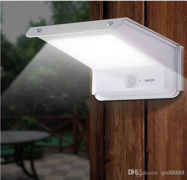 (20) LED 태양 램프 모션 센서 야외 방수 바디 유도 사운드 컨트롤 배터리 전원 정원 벽 빛 코트 야드 홈