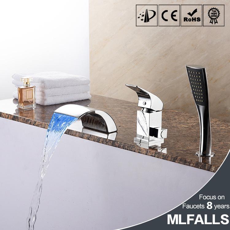Tutto il rame LED caldo e freddo controllo vasca da bagno rubinetto, lampada a LED, B M5160CW