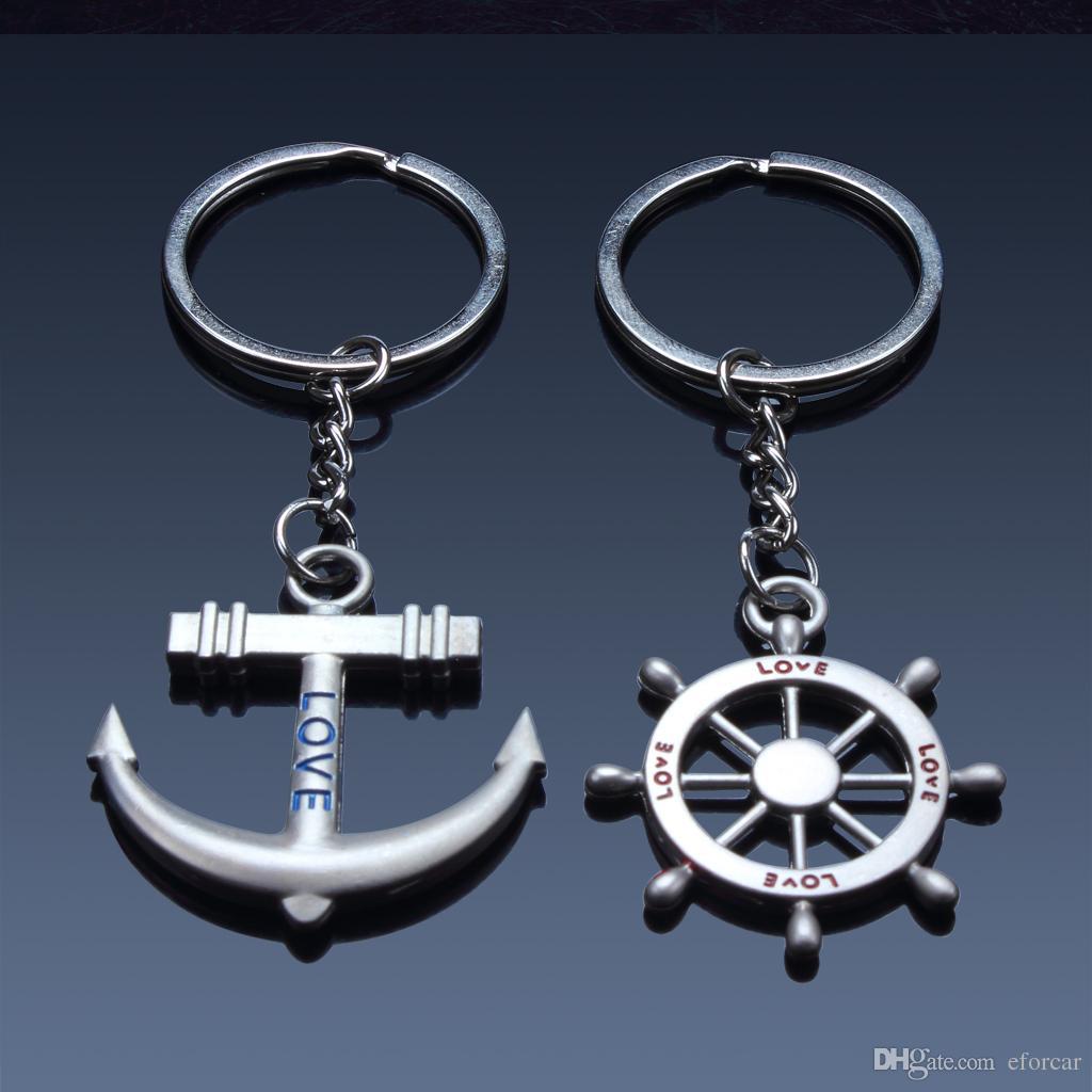 앵커 앤 투구 키 체인 스티커 애호가 키 체인 멋진 자동차 키 체인 훌륭한 선물
