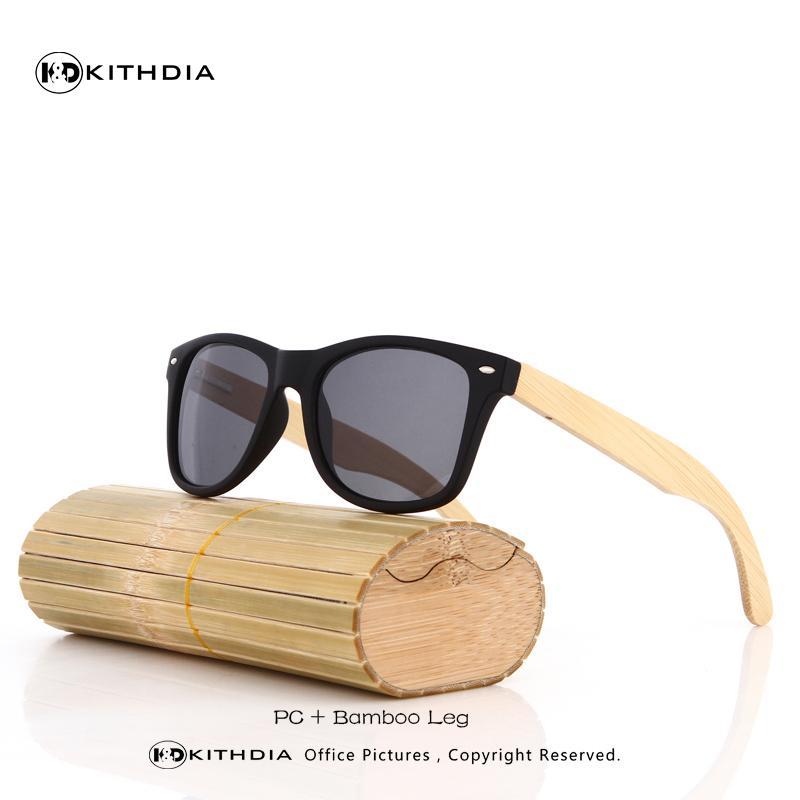 Оптовая продажа-Kithdia Vintage Square солнцезащитные очки мужчины бренд ретро бамбук солнцезащитные очки для женщин / мужчин Feminino Masculino