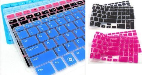2PCS ملون لوحة المفاتيح حامي غطاء الجلد ملصقات لوحة المفاتيح لديل انسبايرون 15R-5521 15-3521