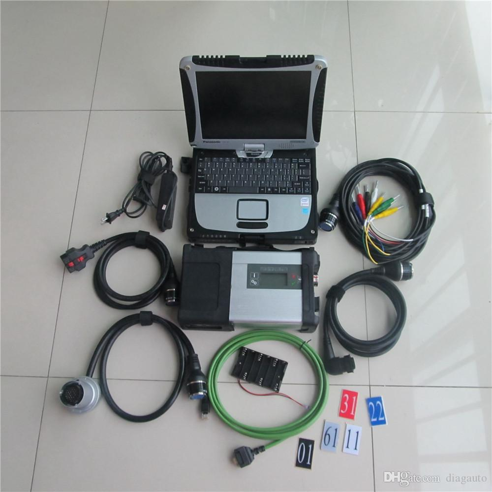 2017 новое прибытие Диагностическое-инструмент ЗВЕЗДА MB C5 SD CONNECT последняя v2017.09 320gb HDD с CF-19 Toughbook ноутбука 3g сенсорным экраном