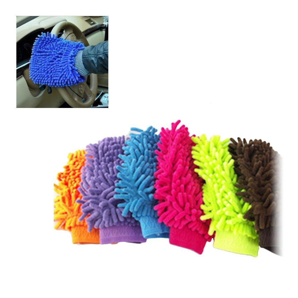 Car Washing Towels Gloves Chenille Coral Fleece Gloves Hand Soft Microfiber Towel