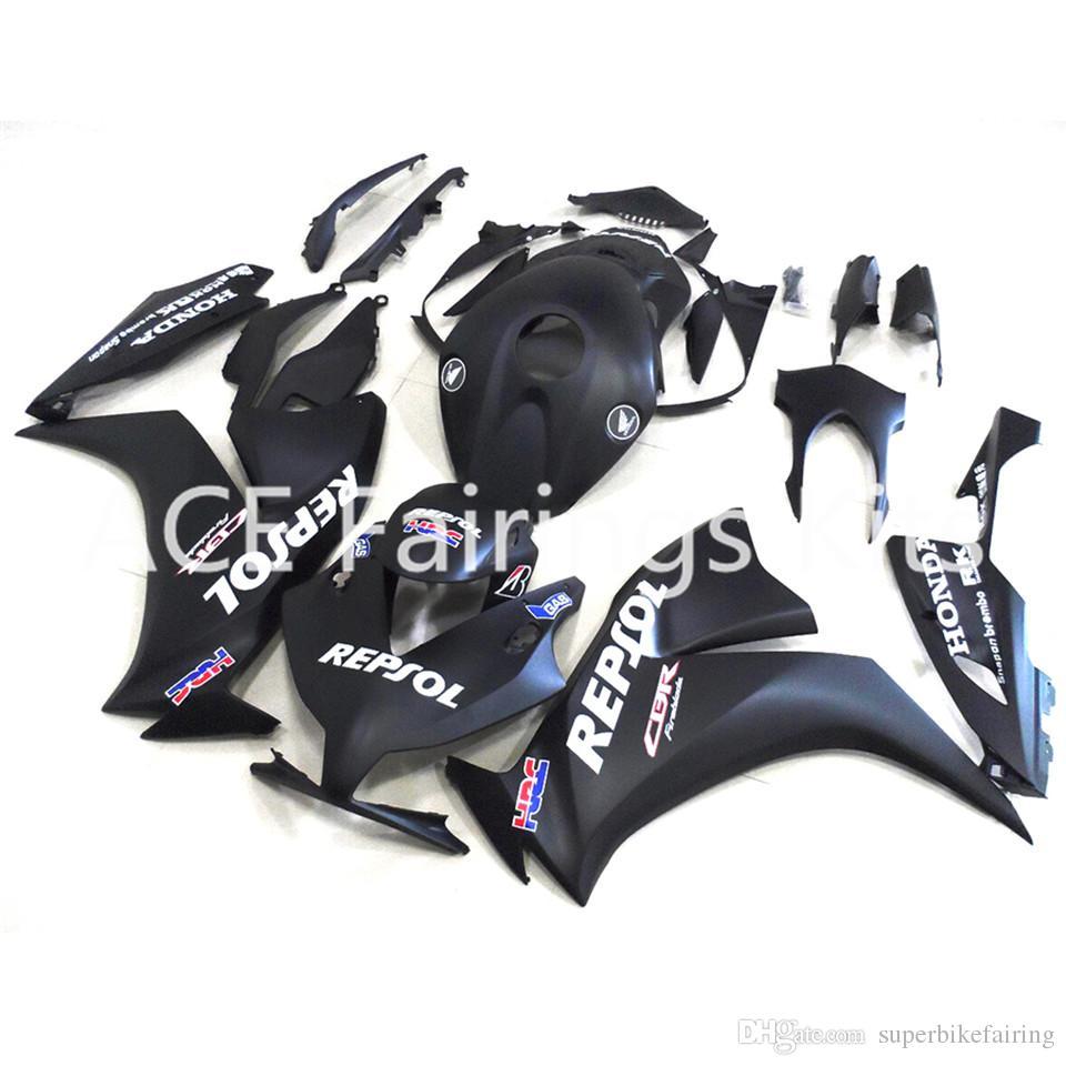 3 regali gratuiti Per Honda CBR1000 CBR1000RR 12 13 14 2012 2013 2014 ABS Iniezione Moto Kit carena completa Nero A13S
