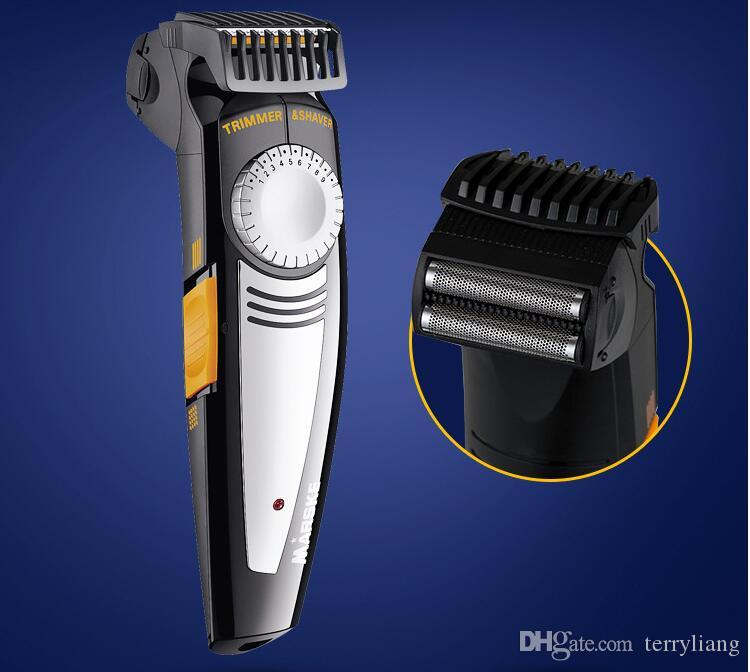 2 in 1 Multifunction Men Electric Shaver And Hair Trimmer 100-240V 19 Settings Cutting Length Ajustable Shave Razor beard clipper cutting