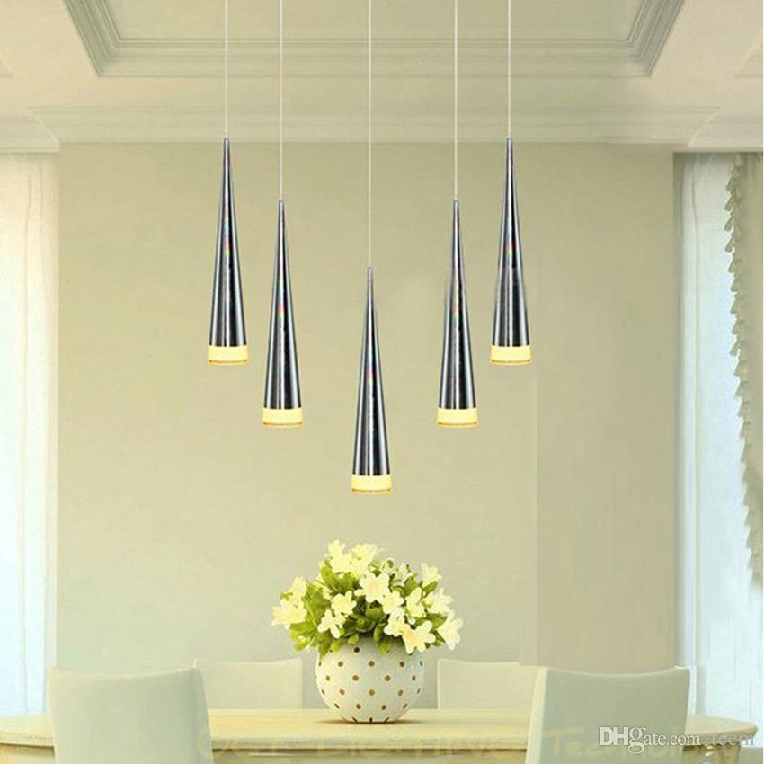 Brilhante Modern led luz pingente Conical Aluminummetal home / iluminação Industrial pendurar lâmpada de jantar / sala de estar bar café luminária droplight