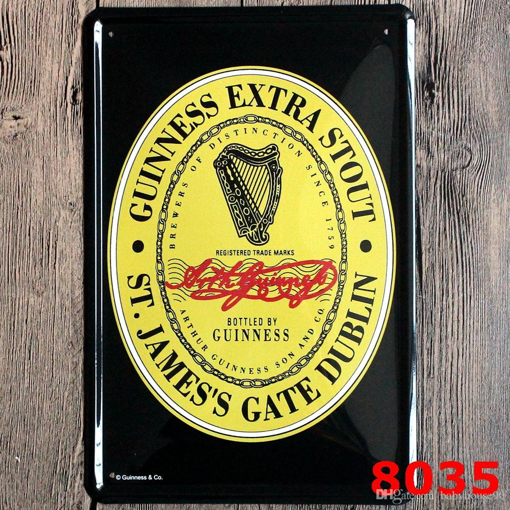 Creative Beer Guiness Iron Painting Vintage Metal Tin Sign 20*30cm ...