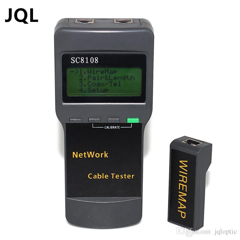 شحن مجاني SC8108 المحمولة lcd شبكة لاسلكية تستر meterlan الهاتف كابل الفاحص متر مع شاشة lcd rj45