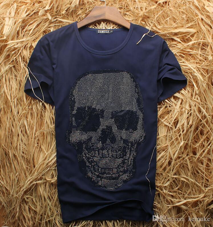 Männer Luxus Diamant Design Kurzarm T-Shirt Mode T-Shirts Männer lustige Marke Baumwolle Tops und Tees FDDF