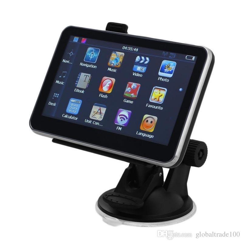O navegador MTK da navegação GPS do carro de 5 polegadas 128MB 4G / 8G ganha o CE com Bluetooth AV nos Multi-países os mais atrasados Mps