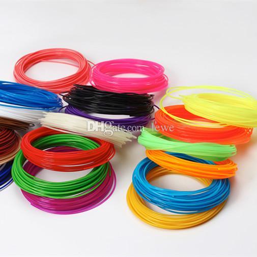 Wholesale pla 3d printer filament 1.75mm ABS 5m 10m cable universal print pen free shipping