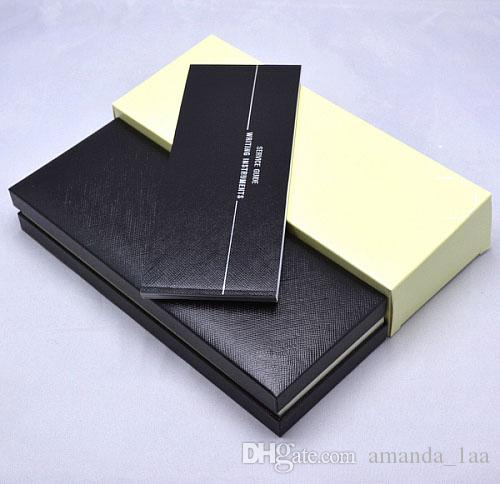 Noel hediyesi kalem ambalaj için kağıtlar Manuel kitap lüks siyah MB Kalem dava ile Yüksek Kaliteli MB Marka kalem Hediye Kutusu
