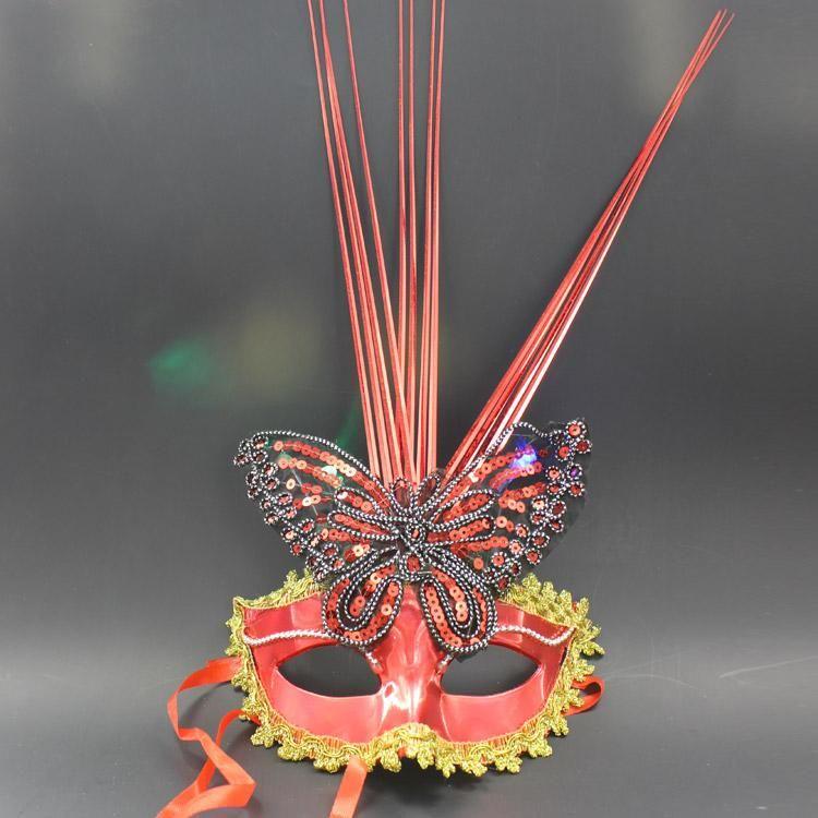 할로윈 소품 최신 빛나는 이중 나비 비 마스크 가장 무도회 파티 마스크