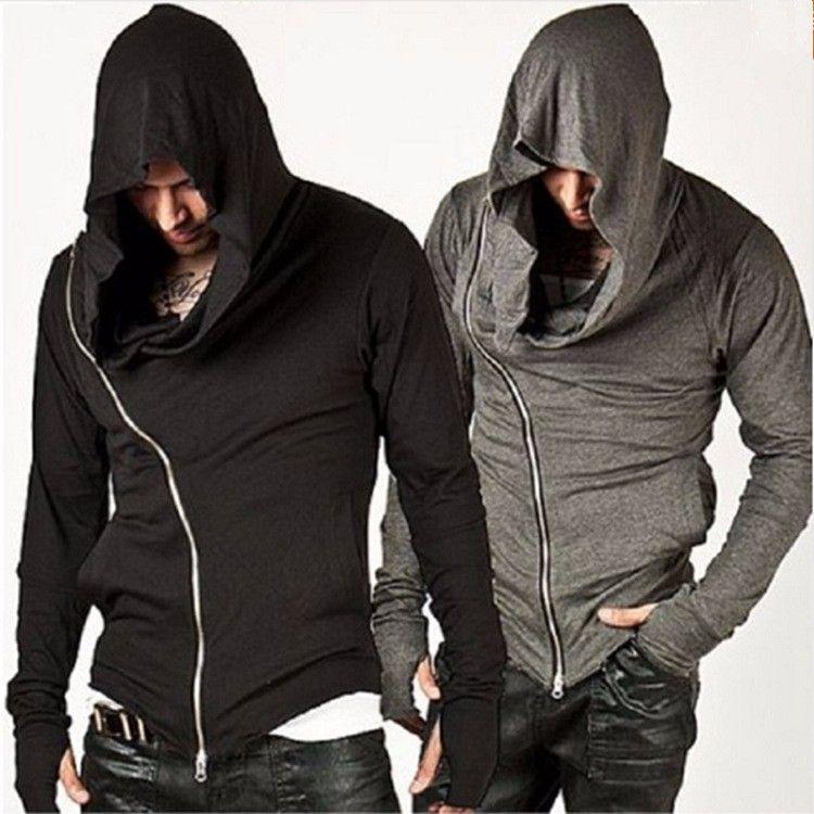 Wholesale free shipping Men Hoodies Hop Streetwear Zipper Fashion Sweatshirt Men's Tracksuit Men Assassins Creed Hoodies