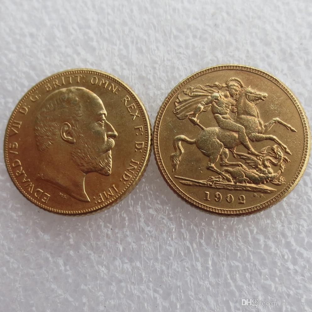 Редкий 1902 король Эдуард VII Мэтт доказательство золото двойной суверенный бесплатная доставка