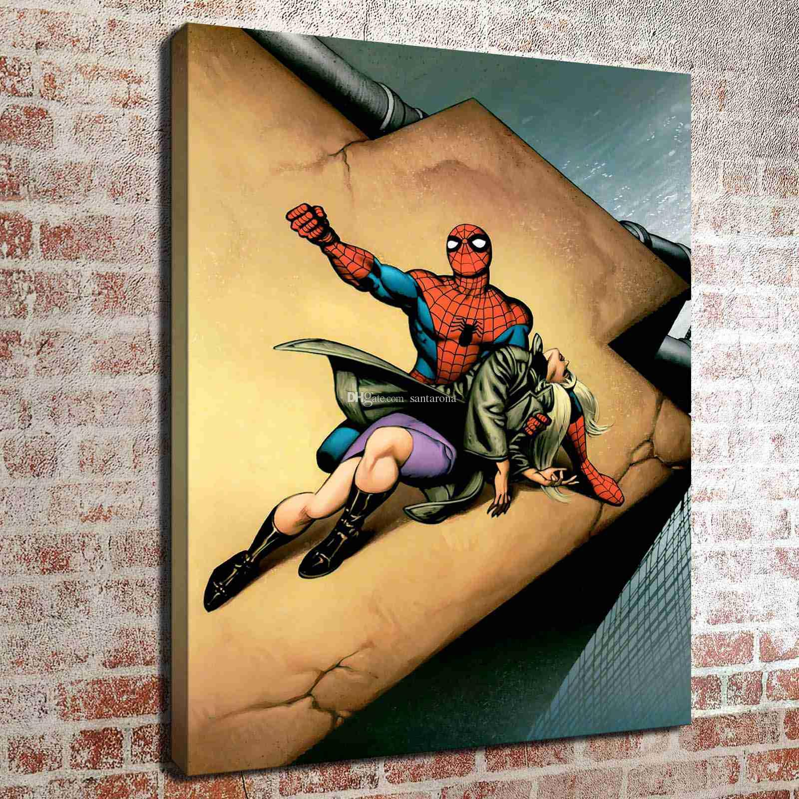 Spiderman family HD Canvas prints Painting Home decor Picture Room Wall art