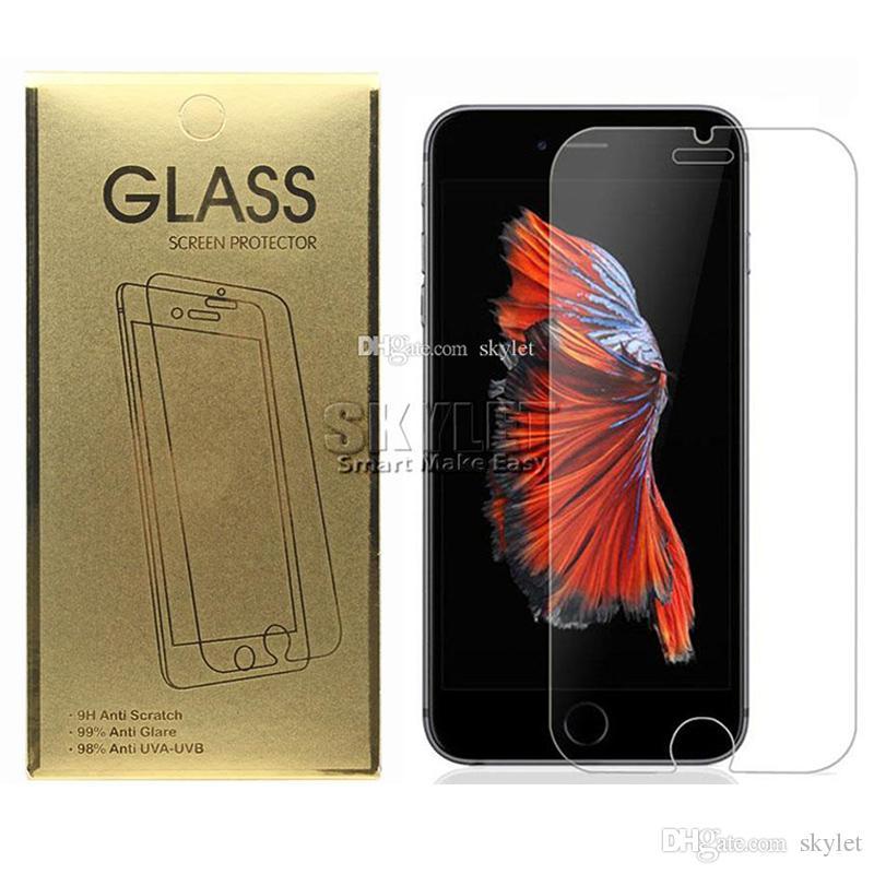 Per Iphone 12 Pro Max XS MAX 0,33 mm vetro temperato dello schermo per Samsung Galaxy S7 vetro temperato Protector con scatola di carta