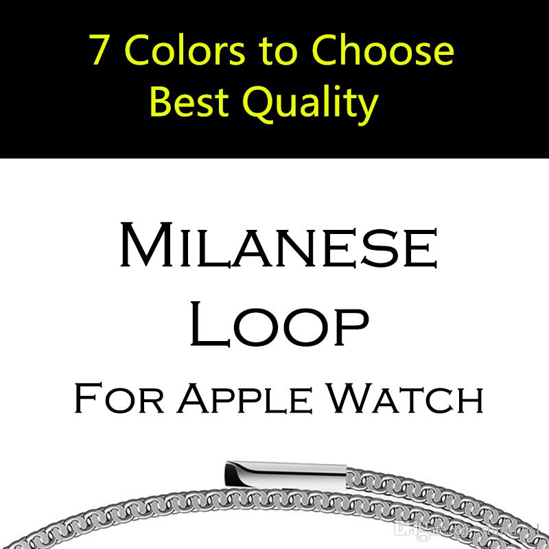 38mm 42mm 40/44 Original Link Bracelet strap/ Milanese Loop watchbands Stainless Steel band for apple Watch band For Apple iWatch Series 4 2